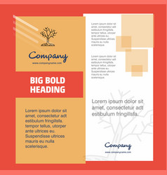 tree company brochure title page design company vector image