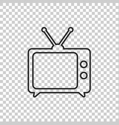tv icon in line style isolated on isolated vector image