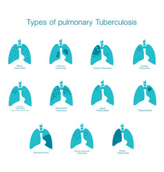 types of tuberculosis silhouette medical vector image