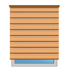 wood sun blind icon cartoon style vector image