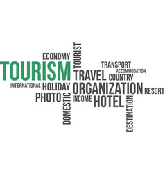 word cloud - tourism vector image