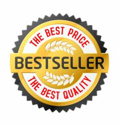 bestseller emblem vector image