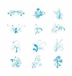 Blue Floral art download free vector image