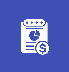 expense report icon vector image vector image