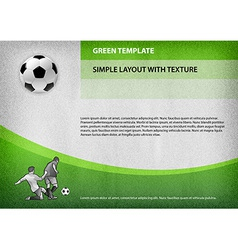 football template green curve vector image