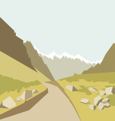 Mountains landscape background vector image