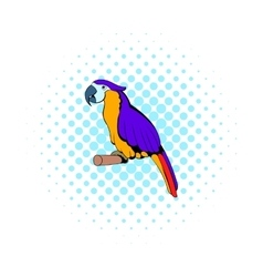 Parrot icon comics style vector image vector image