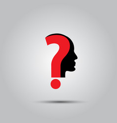question mark human head symbol vector image vector image