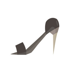 shoes woman icon fashion isolated heel design vector image