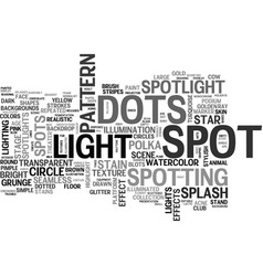 spotting word cloud concept vector image vector image