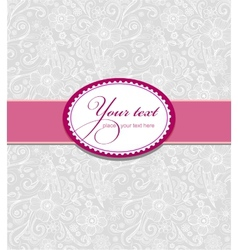 Design for greeting card vector image vector image