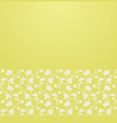 floral ornament border vector image vector image