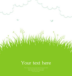 grass template vector image vector image