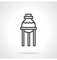 Pharmacy laboratory simple line icon vector image vector image