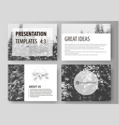 business templates for presentation slides easy vector image vector image
