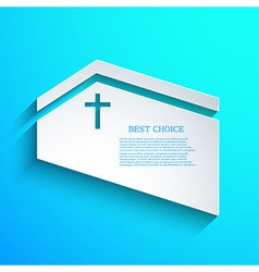 Christian background Eps10 vector image vector image