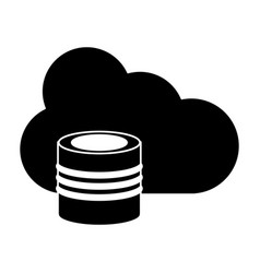 cloud data base technology pictogram vector image