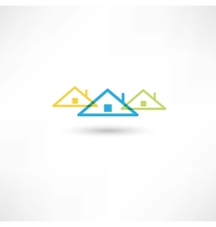 colored roofs vector image vector image