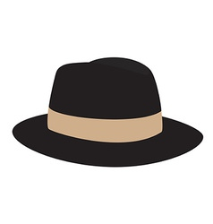 Fedora hat vector image vector image
