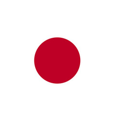 flag of japan in national official colors and vector image