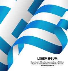 Greece hellenic republic waving flag background vector