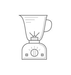 thin line kitchen blender vector image vector image