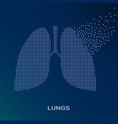 abstract of human lungs on vector image