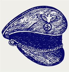 Nazi cap vector image