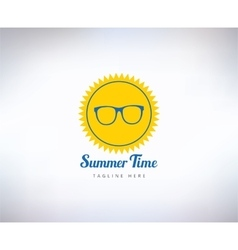 Sun summer and holiday Abstract logo vector image