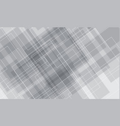 Abstract white grey square line luxury background vector