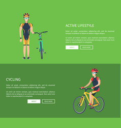 active lifestyle and cycling vector image