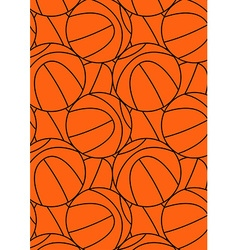 Basketball repeat pattern vector
