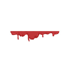 blood dripping red liquid trail vector image