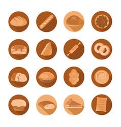bread menu bakery food product block and flat vector image
