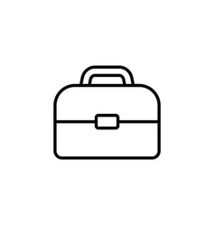 briefcase linear icon black vector image