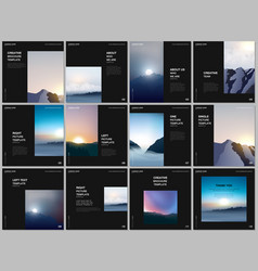 Brochure layout square covers templates vector