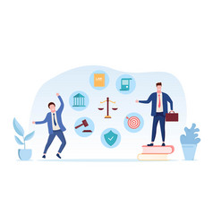 Businessmen and lawyers won case vector