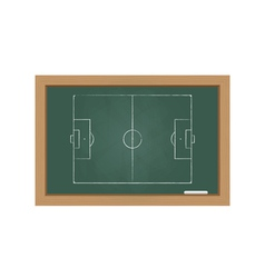 Chalkboard with a football field vector image