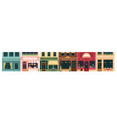 city building vintage facade vector image