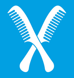 Combs icon white vector