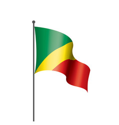 congo flag on a white vector image