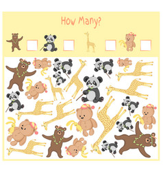 counting game for preschool children a vector image