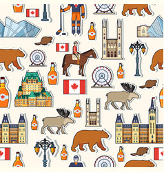 Country canada travel vacation guide of goods vector