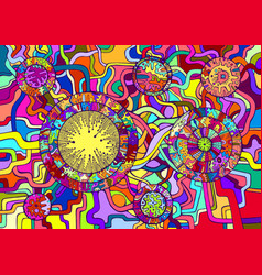 decorative psychedelic abstract background vector image