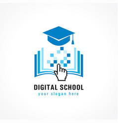 Digital school cursor logo vector
