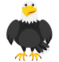 eagle with happy face vector image vector image