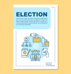 Election brochure template layout holding voting vector