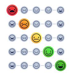 emotional scale customer satisfaction meter mood vector image