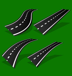empty road roadway with perspective and divider vector image