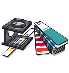 equipments prepress tools vector image